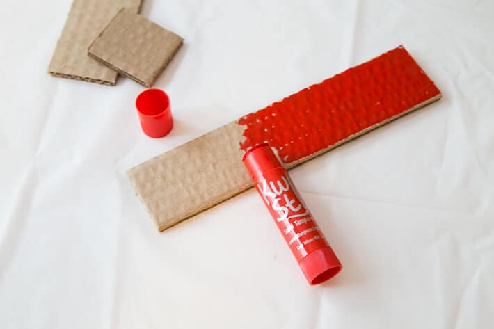 Coloring Cardboard with Kwik Stix Paint Sticks