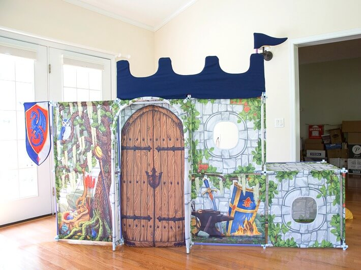 The Fort Magic Castle set up in the living room