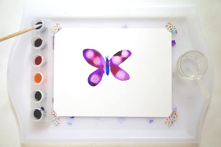 How to paint watercolor butterflies - single butterfly
