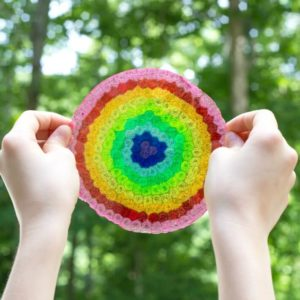 How to Make Rainbow Plastic Bead Suncatchers