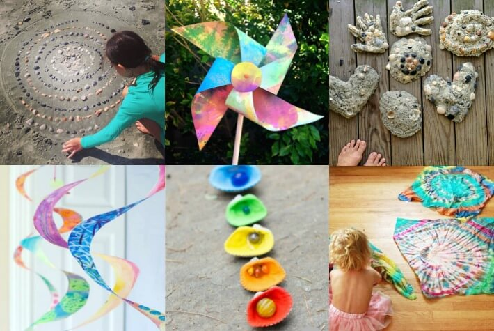 More Summer Crafts for Kids Collage