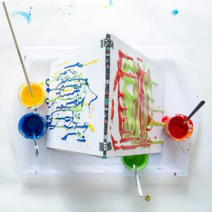 Drip Painting with Kids