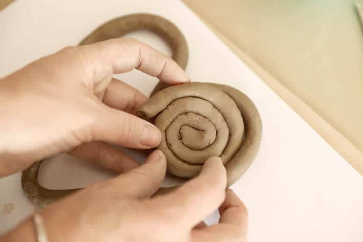 Adding coil to clay coil heart