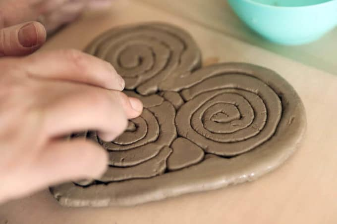 Clay Coil Hearts – Air dry clay art projects for kids