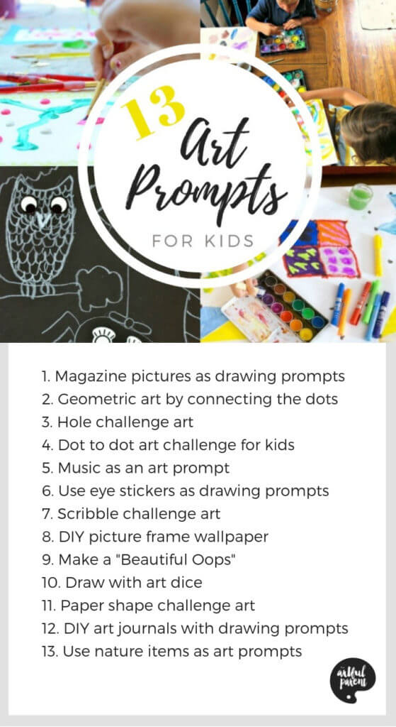 13 Art Prompts for Kids to Foster Creativity with List