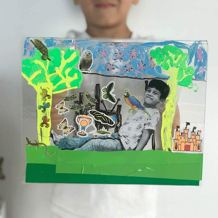 Dream worlds – creating mixed media art for kids