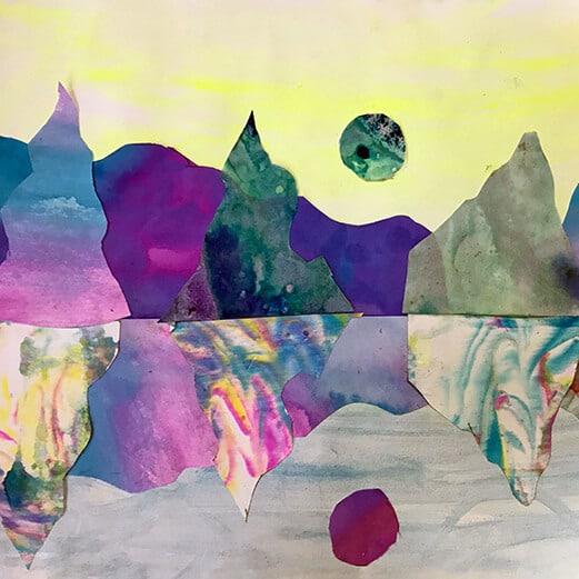 Marble Paper Art Collage Landscapes feature image