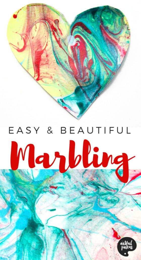 Paper Marbling with Acrylic Paint and Liquid Starch Pin