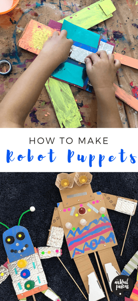 Make Cardboard Robot Puppets that Move!