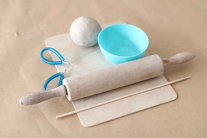 Materials for making clay relief tiles