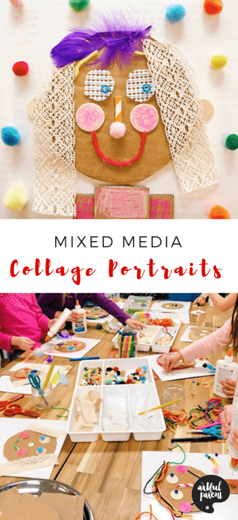 Explore Texture with These Fun Mixed Media Collage Portraits for Kids