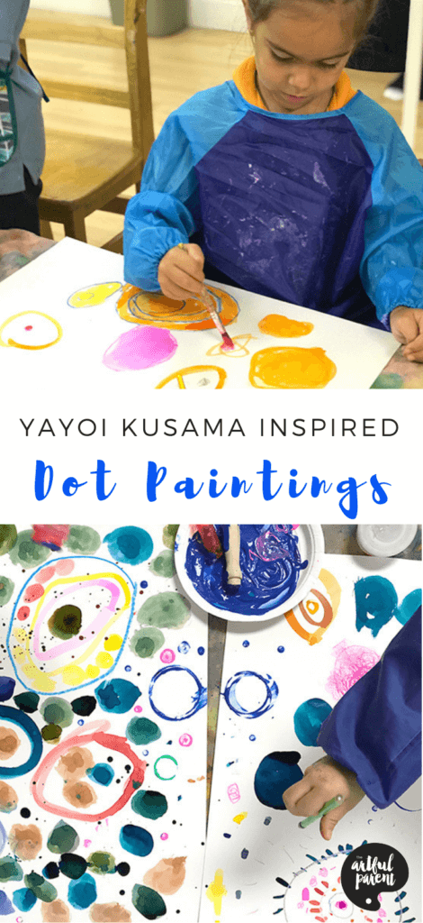 Make These Yayoi Kusama Inspired Dot Paintings for Kids