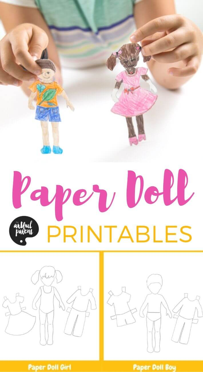 Printable Paper Dolls for Kids to Color, Personalize, and Dress