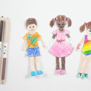 Printable Paper Dolls for Kids to Color Featured Image
