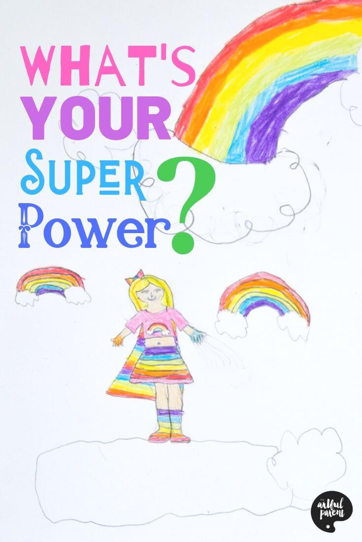 What's Your Super Power - Superhero Self Portraits for Kids Daphne's Version