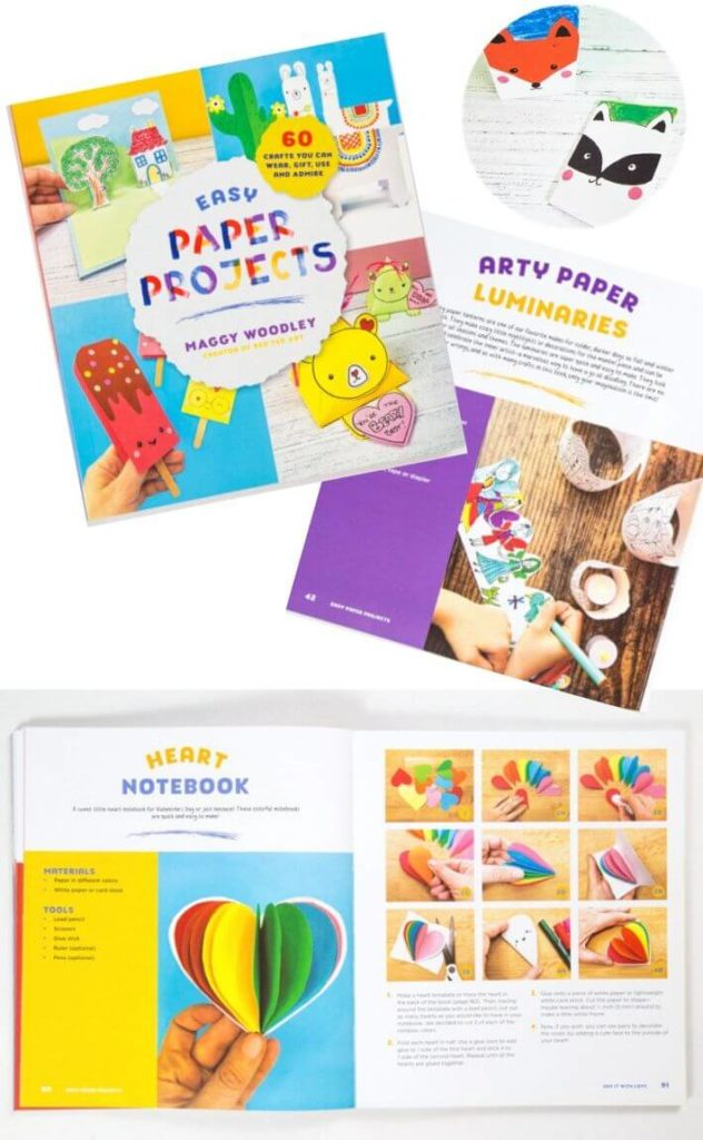 Easy Paper Projects by Maggy Woodley - 9 Art Activity Books for Kids