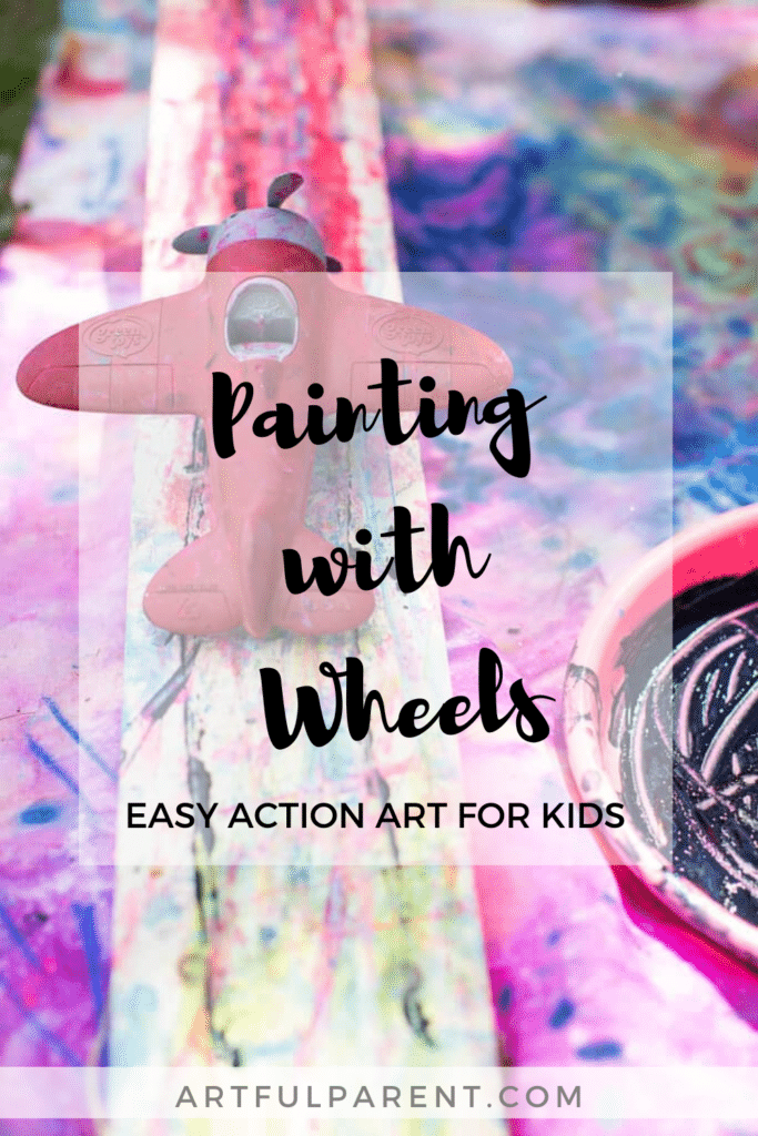 painting with wheels pinterest graphic