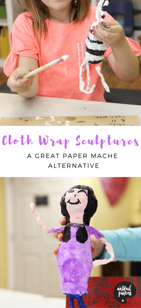 Cloth Wrap Sculptures for Kids_ Pinterest