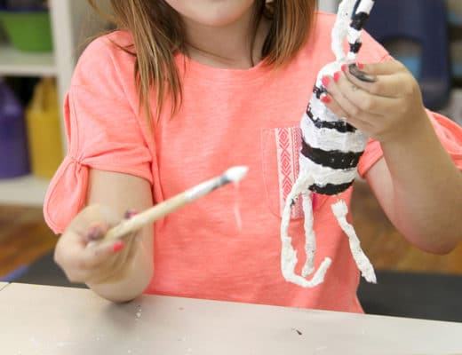Cloth wrap sculptures for kids