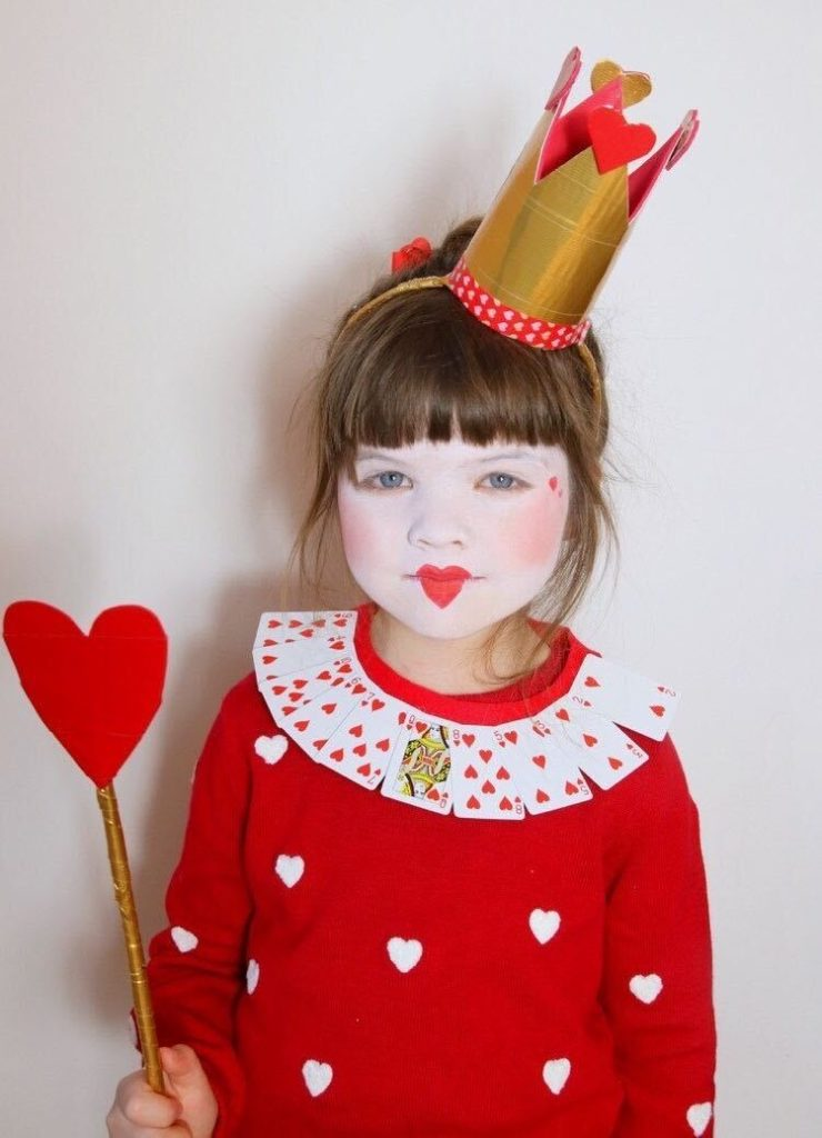 Child dressed as Queen of Hearts_Little Button Diaries