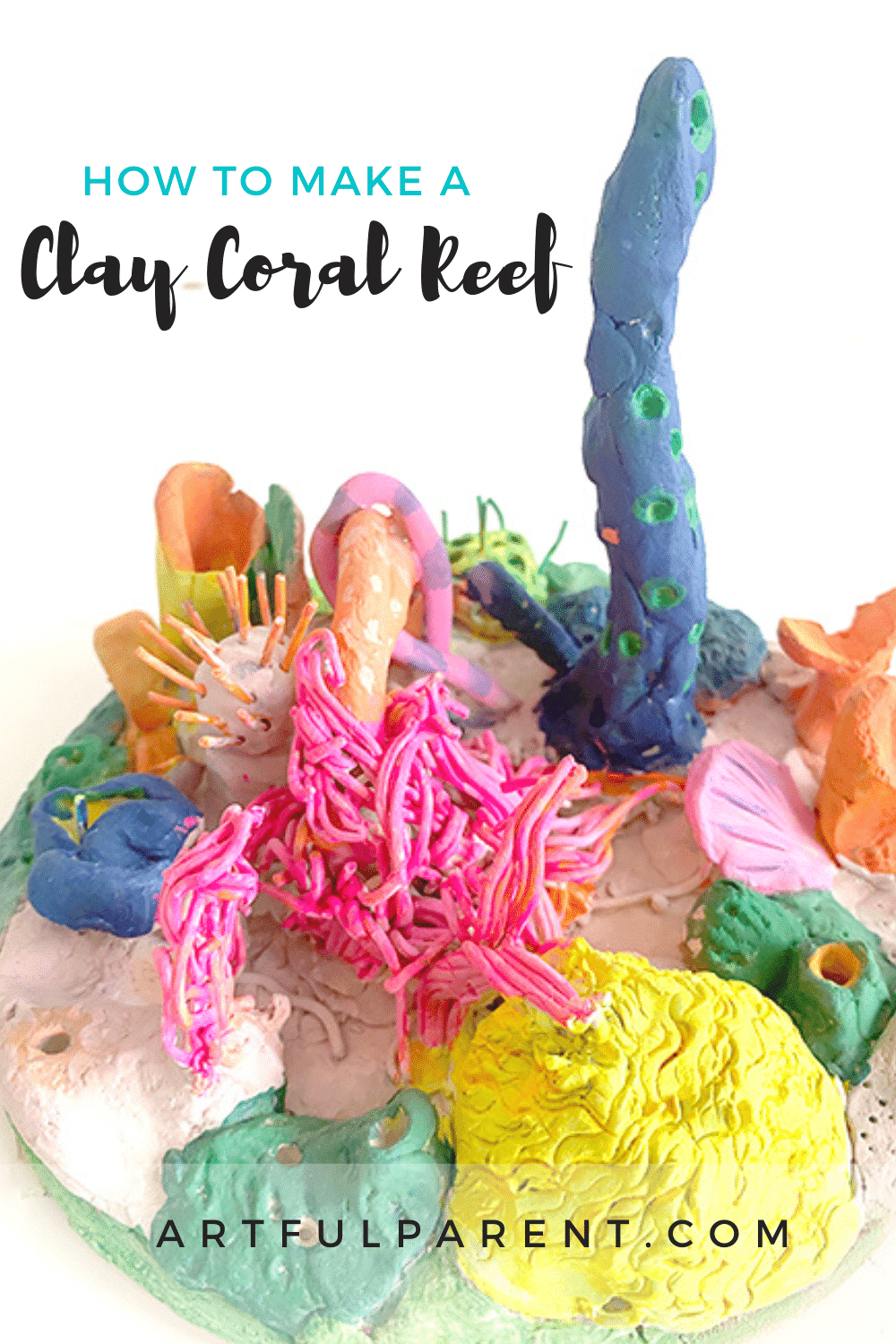 Create your own coral reef with air dry clay!