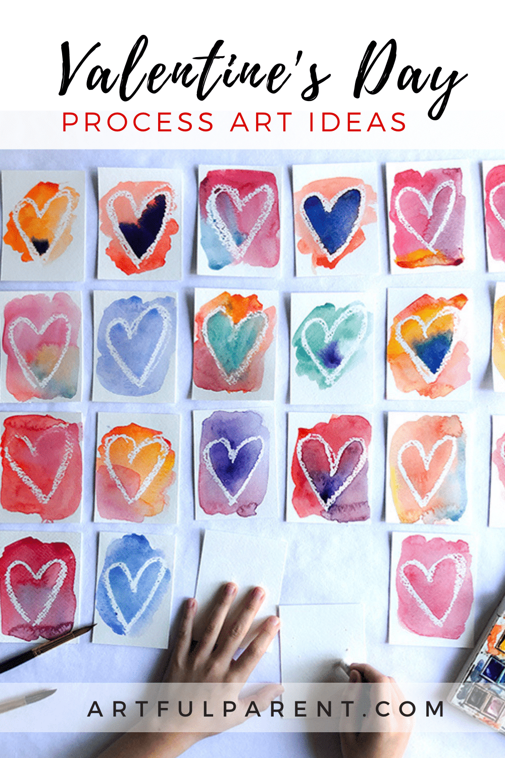12 Process Art Ideas for Valentine\'s Day