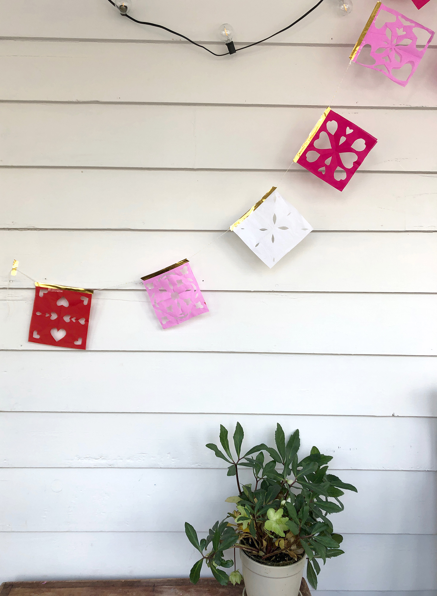 Papel picado for kids –hanging paper garland