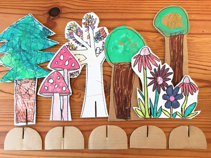 cardboard cutouts for magic forest