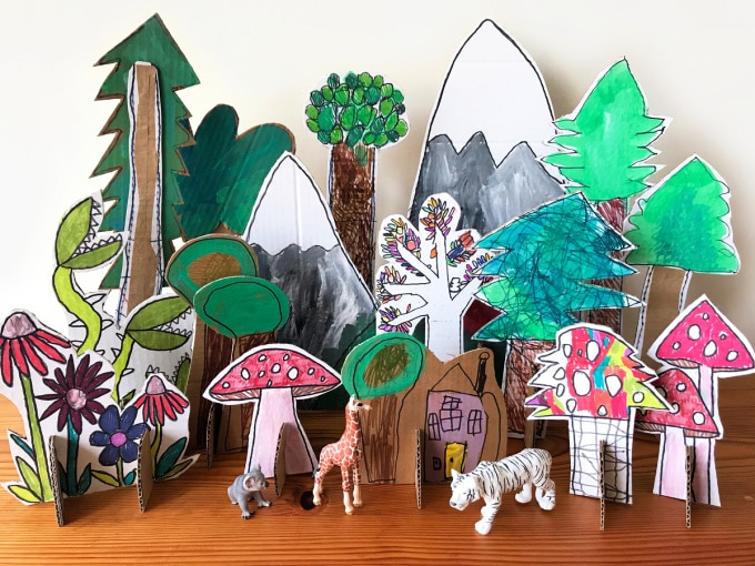 magic forest with animals