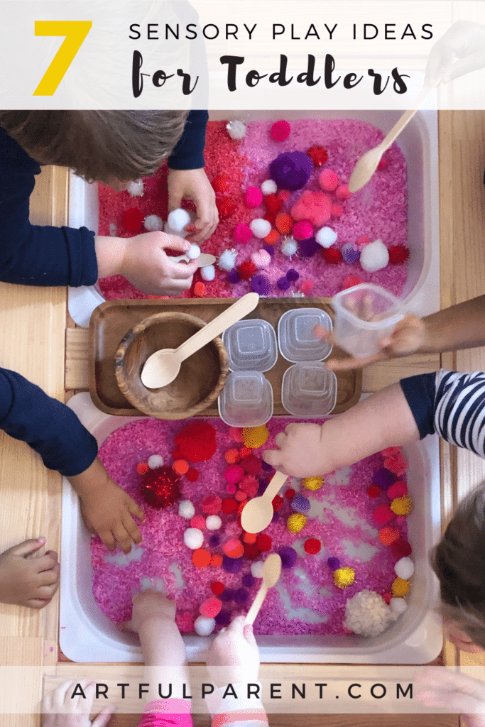 7 Sensory Play Ideas for Toddlers_Pin