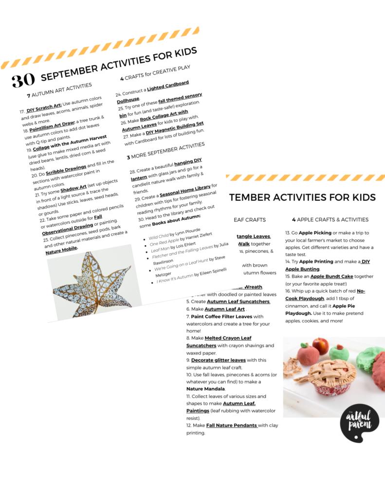 30 September Activities for Kids